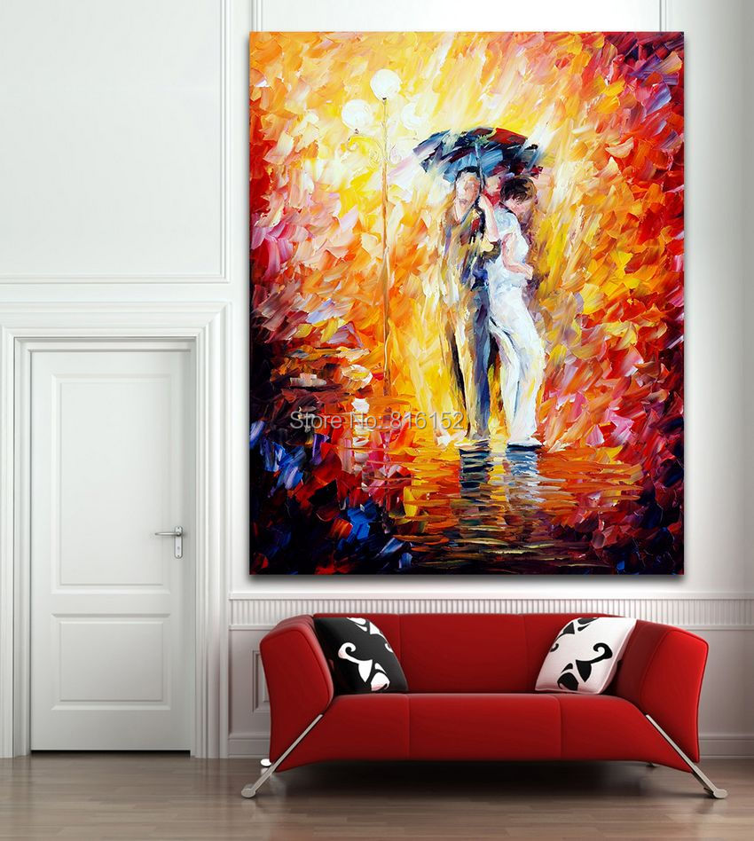 Modern famous figure painting palette knife painting for Canvas mural painting