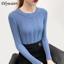 High Elastic Solid O Neck Sweater Women Slim Fashion Knitted Pullovers Female Color Bottoming 2018 Fall Winter Sexy Hight