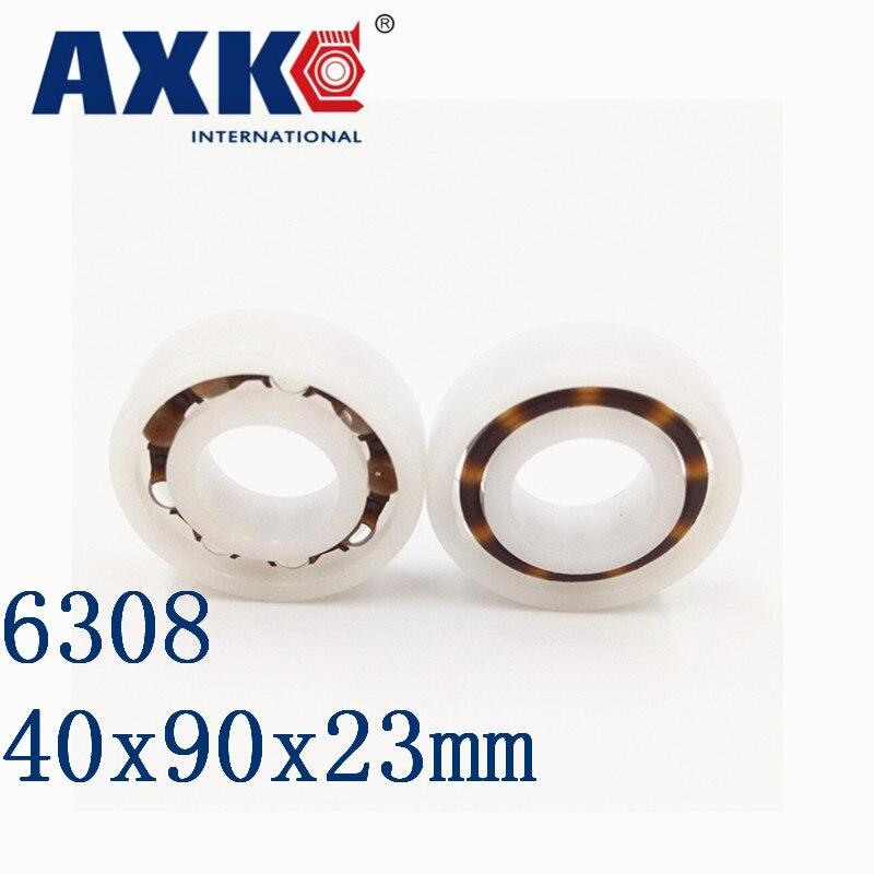 AXK 6308 POM (10PCS)  Plastic ball bearings 40x90x23mm  Glass Balls 40mm/90mm/23mm 6809 pom 10pcs plastic ball bearings 45x58x7 glass balls 45mm 58mm 7mm 61809pom