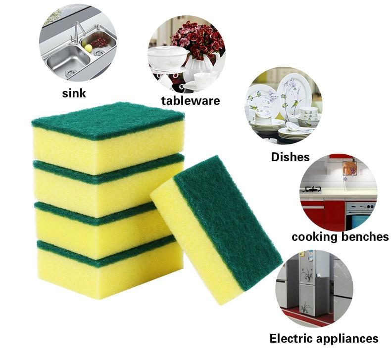 10 Unids de alta densidad esponja cocina esponja limpia frote baño - Bienes para el hogar - foto 5