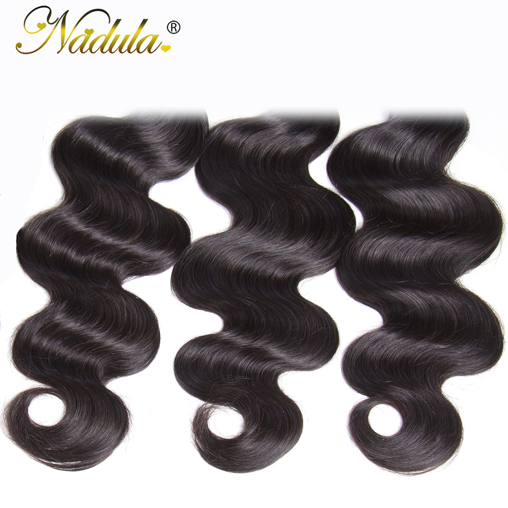 Nadula Hair 3 Bundles/4pc/Lot  Body Wave Hair s 8-30inch  Hair s 100%    5
