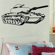 Hot Army Tank Children Bedroom Art Decor Wall Sticker Vinyl Decals Military Removable For Home Mural W-959