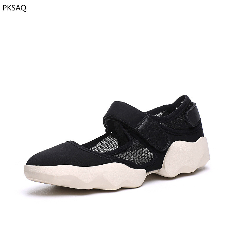 Summer Women Casual Flat Shoes New Breathable Sandals Thick Soles Cloth Shoes Lady Light Hook Loop Shoes B women s shoes 2017 summer new fashion footwear women s air network flat shoes breathable comfortable casual shoes jdt103