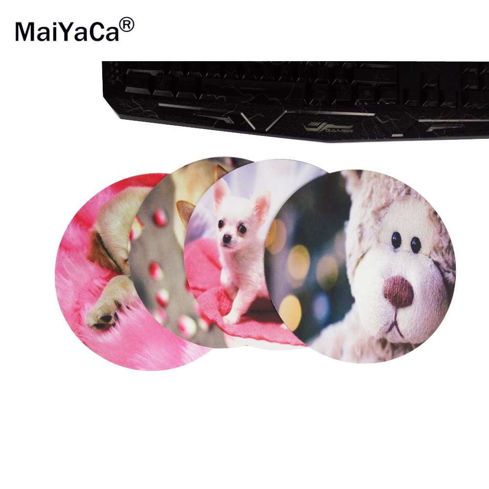 Doggy On Pink Wallpaper Round 200*200*2mm Mouse Pad Mousepad Computer PC Laptop Comfort Gaming Mouse Pad