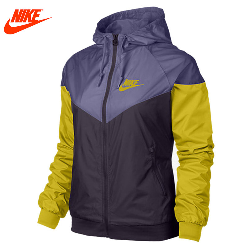 Nike genuine Womens spring windproof jacket Purple Blue and Green sketches in lavender blue and green