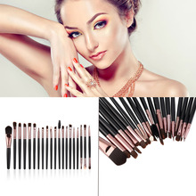 New Arrival 20 Pcs Eyebrow Lip Eyeshadow Fashion Complete Makeup Brush Set Kits 2015 Hot