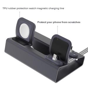 Image 4 - Doca de carregamento 3 em 1, carregador de alumínio para iphone x xr xs max 8 7 apple watch suporte de montagem da doca do iwatch