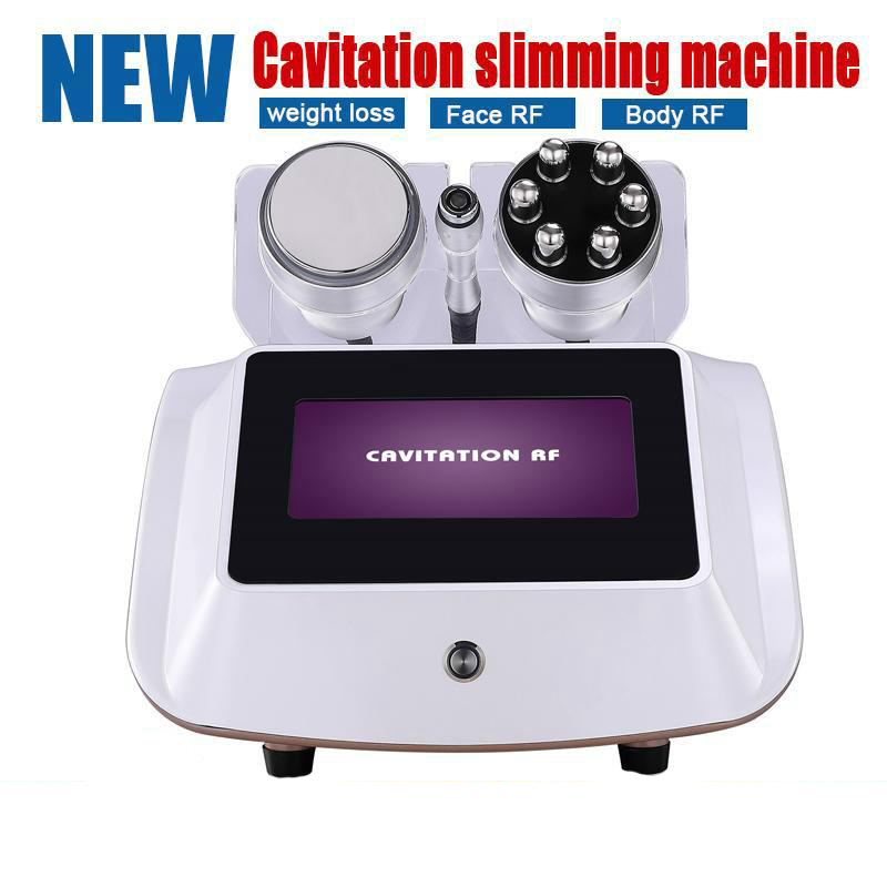 2019 New 3 In 1 40KHZ Cavitation Machine Strong Power Ultrsonic Slimming Equipment For Fat Burning Cellulite Removal Machine