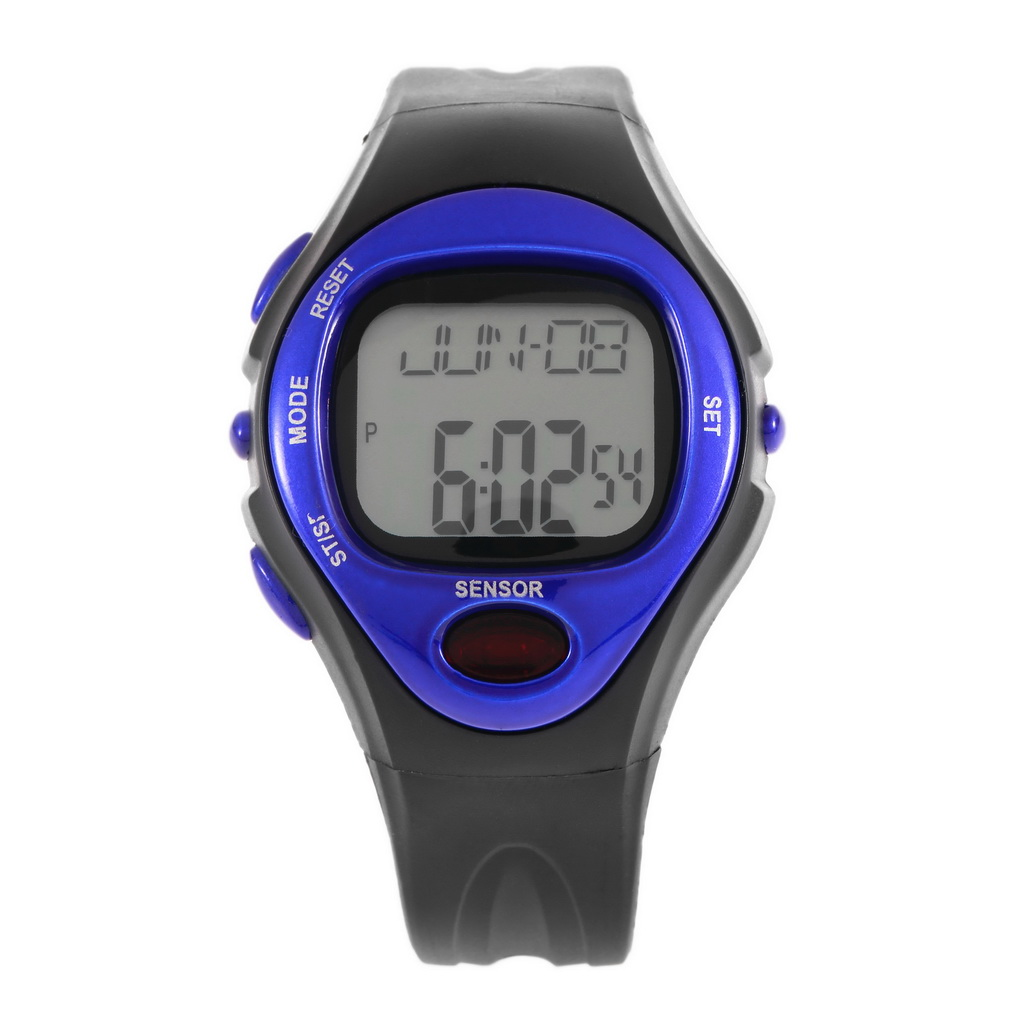 Pulse Heart Rate Monitor Calories Counter Fitness Watch Time Stop Watch Alarm Digital Watch Reloj Men Women 2017 Wholesale pedometer heart rate monitor calories counter led digital sports watch fitness for men women outdoor military wristwatches
