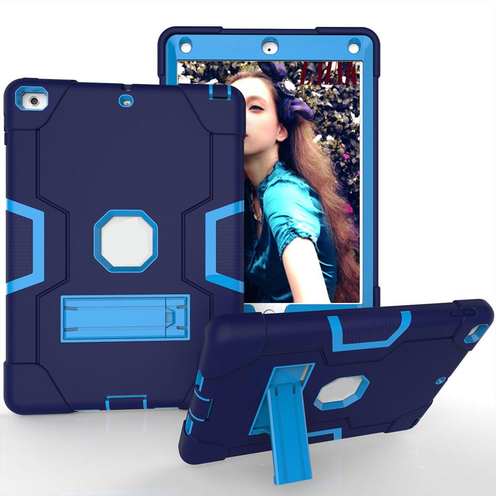 PC+ силиконовый защитный чехол для планшета универсальный для 18/17 Ipad 9,7 кожа прочный - Цвет: Navy Blue