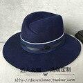 Европа и соединенные Штаты двойной черный М стандартный большой ткань чужеродных женщин элегантный пурпурно-синий шляпа двойной цвет ленты