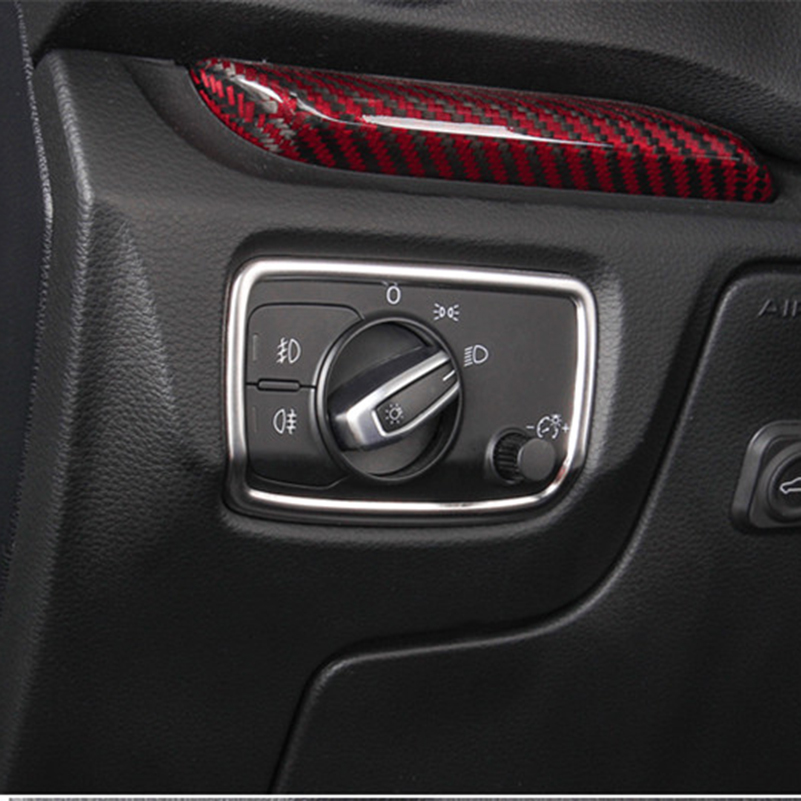 Stainless Steel Car Headlight Switch Frame Decorative 3D Sticker For Audi A3 8V Sedan Hatchback Sportback 2013 2014 2015 2016