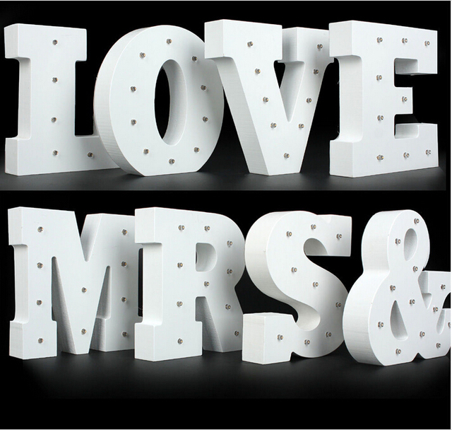 Led marquee letter wall decor