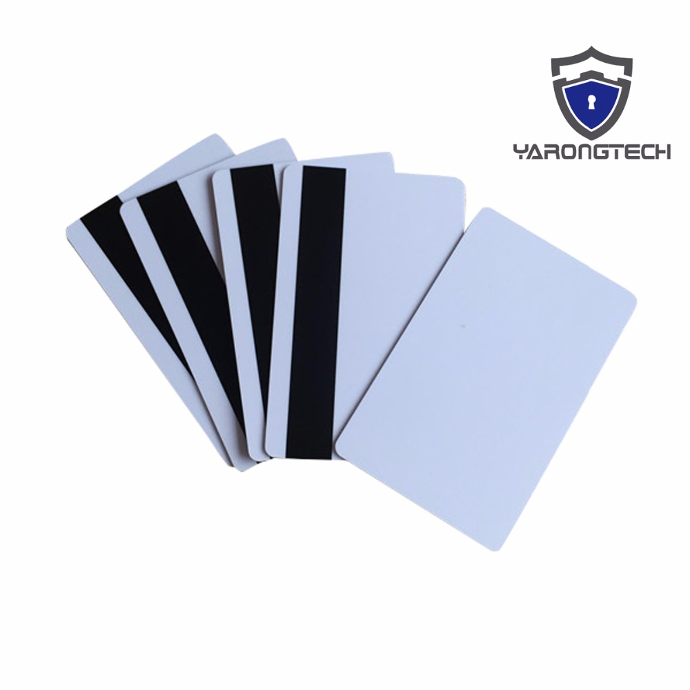 100x blank CR80 ID ISO PVC Credit Card LoCo 1-3 Magnetic Stripe PVC Card free shipping pvc gift card full color printing iso cr80 card pvc card manufacture 1000pcs lot