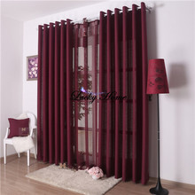 Window Screening curtains for living room (blackout 150*270*2pcs+tulle 300*265cm) solid lavender cortinas voile same as photo