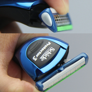 Image 4 - 18 ใบมีด/lot = 3 AAAAA ของแท้ใหม่แพคเกจ Schick Protector 3d เพชรสำหรับชายมีดโกนใบมีดในสต็อก