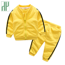 Toddler Baby Girls Boy Casual Clothing Set Sweatshirt Long Sleeve Autumn boutique Kids tracksuit Outfits Suits Children Clothes недорого