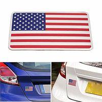 8 cm x 5 cm américain USA drapeau US emblème voiture autocollant en métal Badge décor pour l'arrière