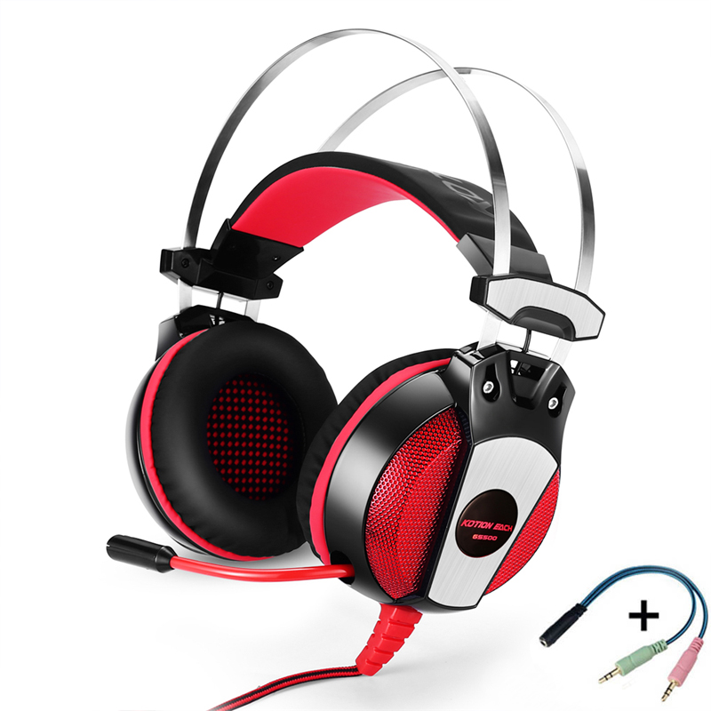 EACH GS500 Gaming Headset PS4 Xbox one Headset 3.5mm Stereo Gaming Headphones With Mic Led light for PlayStation 4 Computer PC oneodio stereo gaming headset for phone pc computer headphones with mic over ear noise cancelling for pc ps4 xbox mobile