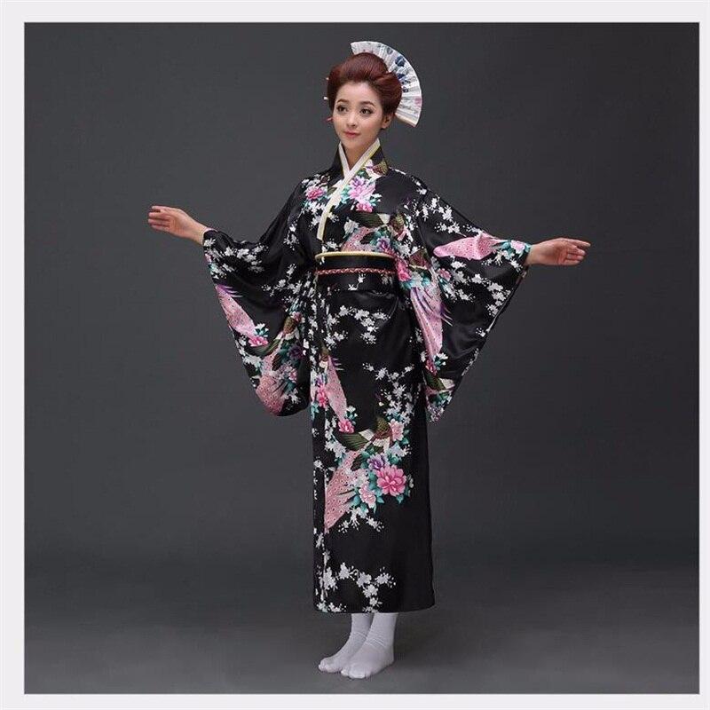 8de1b712d Moda nacional tendencias mujeres sexy kimono yukata con Obi vestido de  noche de la novedad Cosplay japonés floral un tamaño