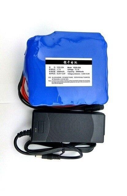 12 V 20AH 18650 60A batterie au lithium Lampe Au Xénon actuel Au Lithium batterie 12.6 Haute-capacité minière lampe batterie + 12 V 3A batterie ch