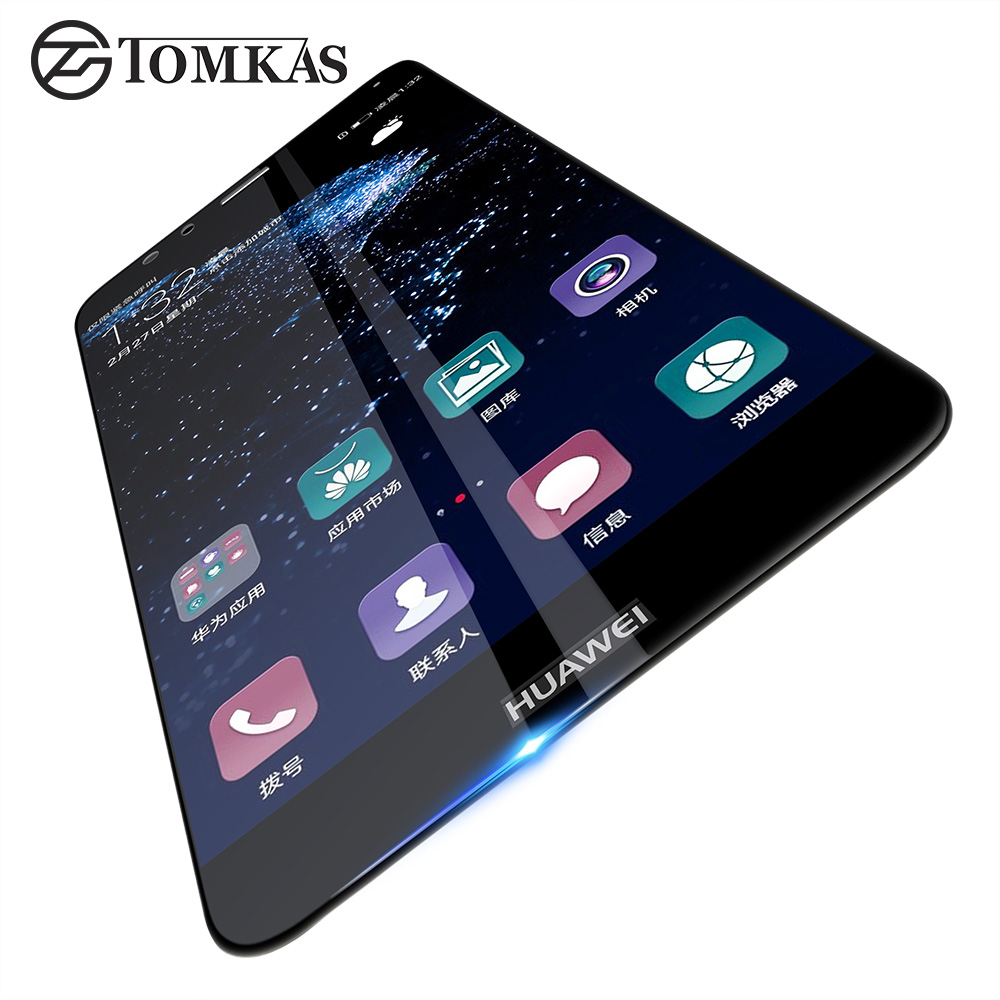 TOMKAS Huawei P10 Lite Tempered Glass Screen Protector 2.5D HD Anti-Scratch Tempered Glass For Huawei P10 Lite Protective Film