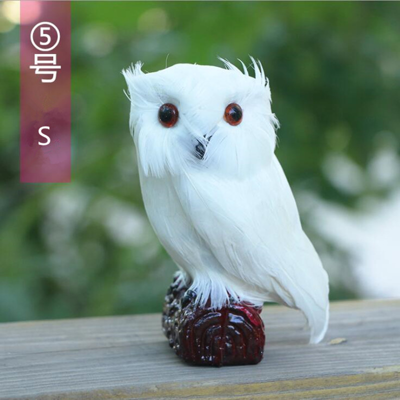 White Simulated Owl Pet Decor Home Decoration 3 Sizes For Option In Figurines Miniatures From Garden On Aliexpress Alibaba Group