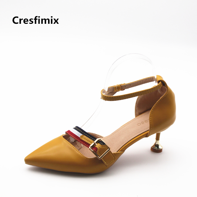 Cresfimix zapatos de mujer women sexy party night club high heel shoes female spring summer slip on high heel pumps cute shoes cresfimix women cute spring