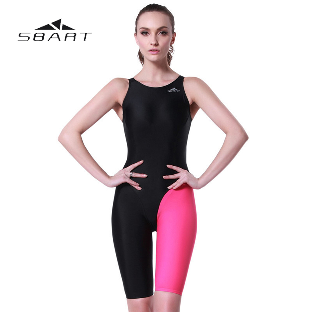 SBART Women Sport Monokini Swimsuits Backless Swimsuit Professional Swimwear Pool Training Body Suit One-Piece Swimsuit XL-4XL sbart upf50 806 xuancai