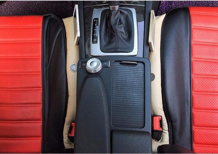 Two leather stopper stickers of Car seat edge groove. for Suzuki Jimny The Kizashi Grand Vitara SX4 VITARA Works Baleno Celerio