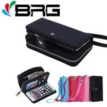 Custodia in pelle di lusso con cerniera magnetica per iPhone 11 12 Pro 5s 6S 7 8 Plus X XR XS Max SE2020 Flip Cover Multi Cards Handbag