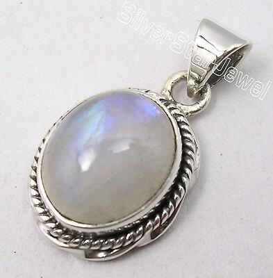 Muiltiple Choices Chanti International Pure Silver Low Price RAINBOW MOONSTONE WOMEN'S New Pendant 2.4 CM HANDWORK Variation