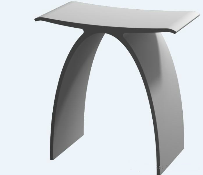 Bathroom Perfect Curved Modelling Seat Bench Solid Surface Resin Sauna Stool Shower Enclosure Bath Chair Wd1111C
