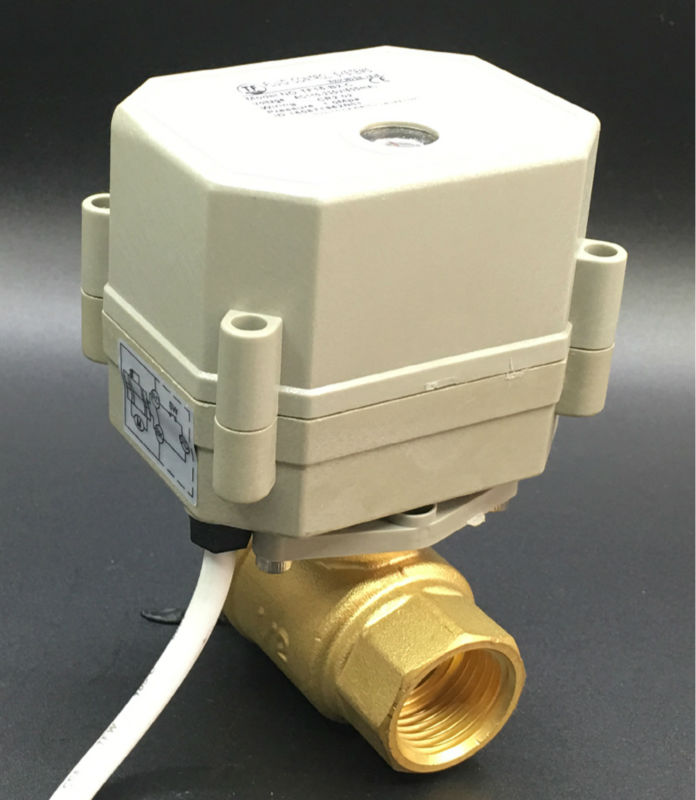 AC/DC9-24V 2 Wires Normal Open/Close Valve TF15-B2-C 2 Way 1/2'' DN15 Brass Valve Can Instead of Solenoid Valve High Quality tf15 s2 b dn15 stainless steel normal close open valve 2 5 wires bsp npt 1 2 ac dc9v 24v electric water valve