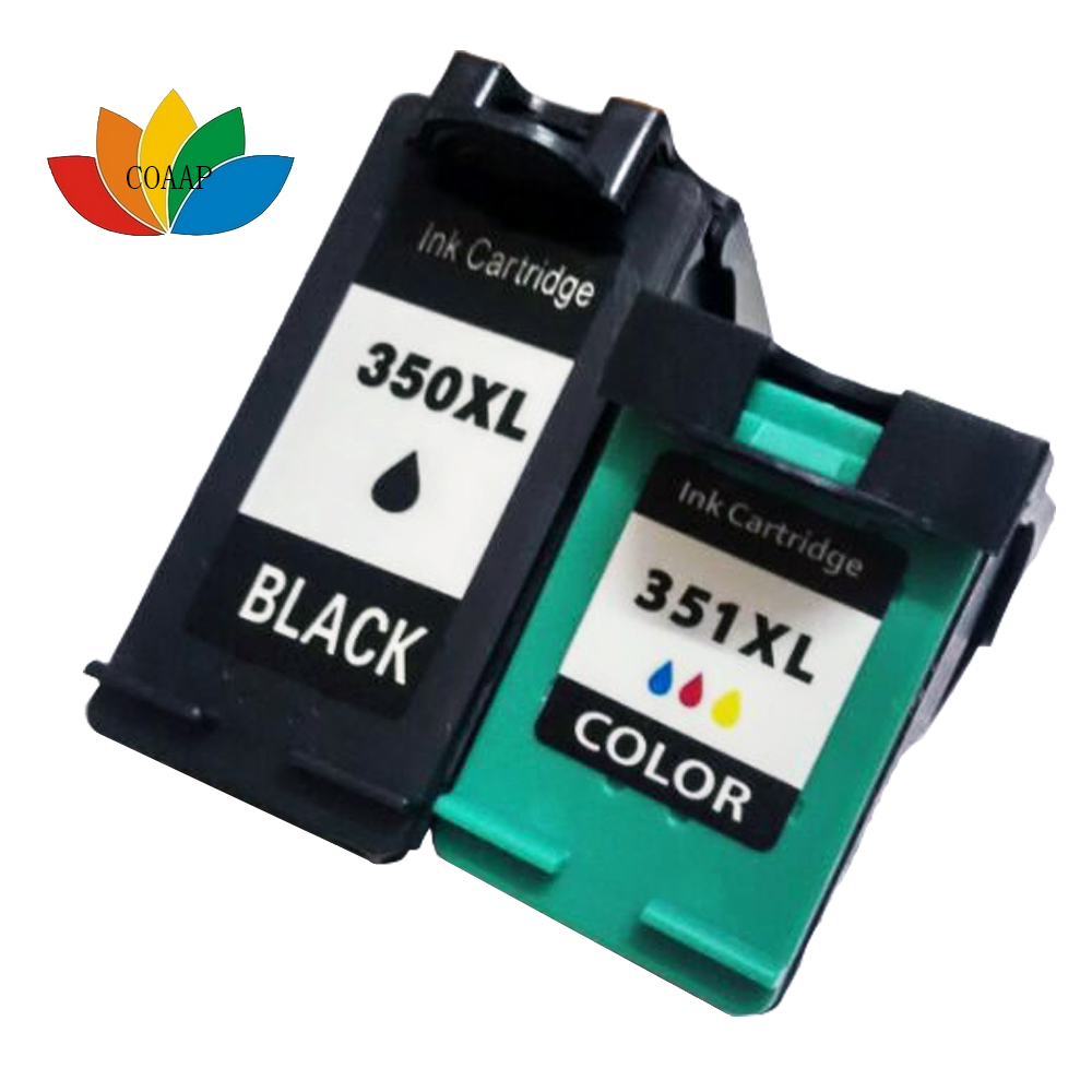 2x Compatible Refillable Ink Cartridges For <font><b>HP</b></font> 350 black & <font><b>HP</b></font> <font><b>351</b></font> For C4480 C4580 C5280 D4260 C4200 C4270 C4280 Printer image