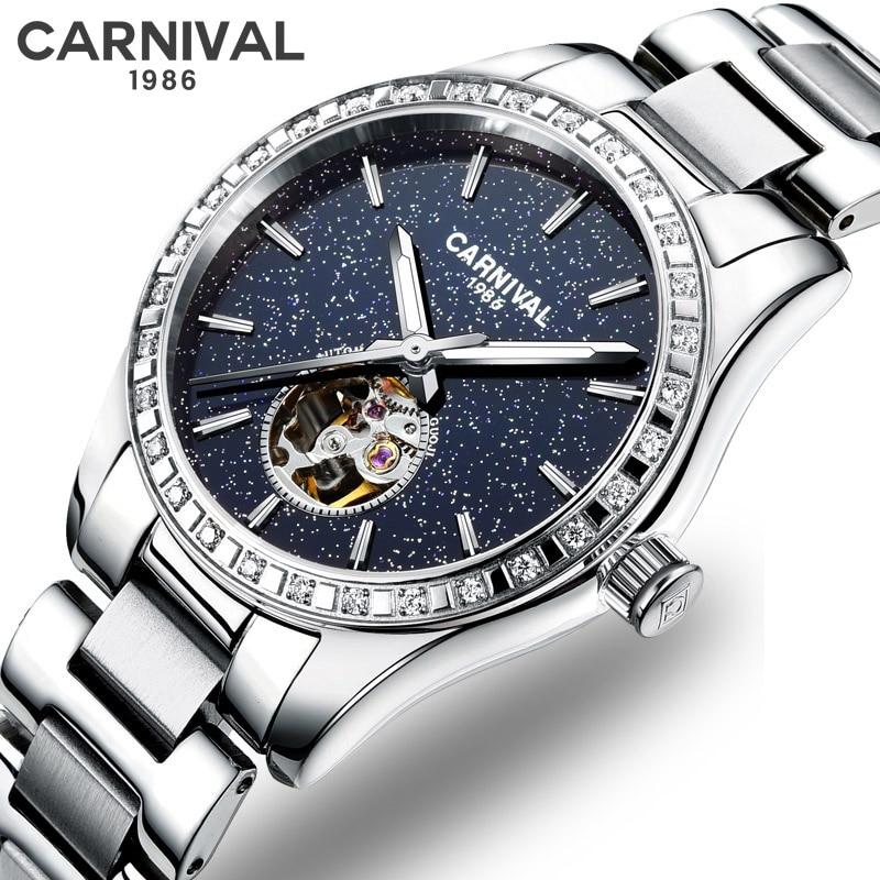 Women's Watches Rhinestone Fashion Women Wrist Watch Luxury Automatic Mechanical Ladies Watch Women Bracelet Reloj Mujer Clock