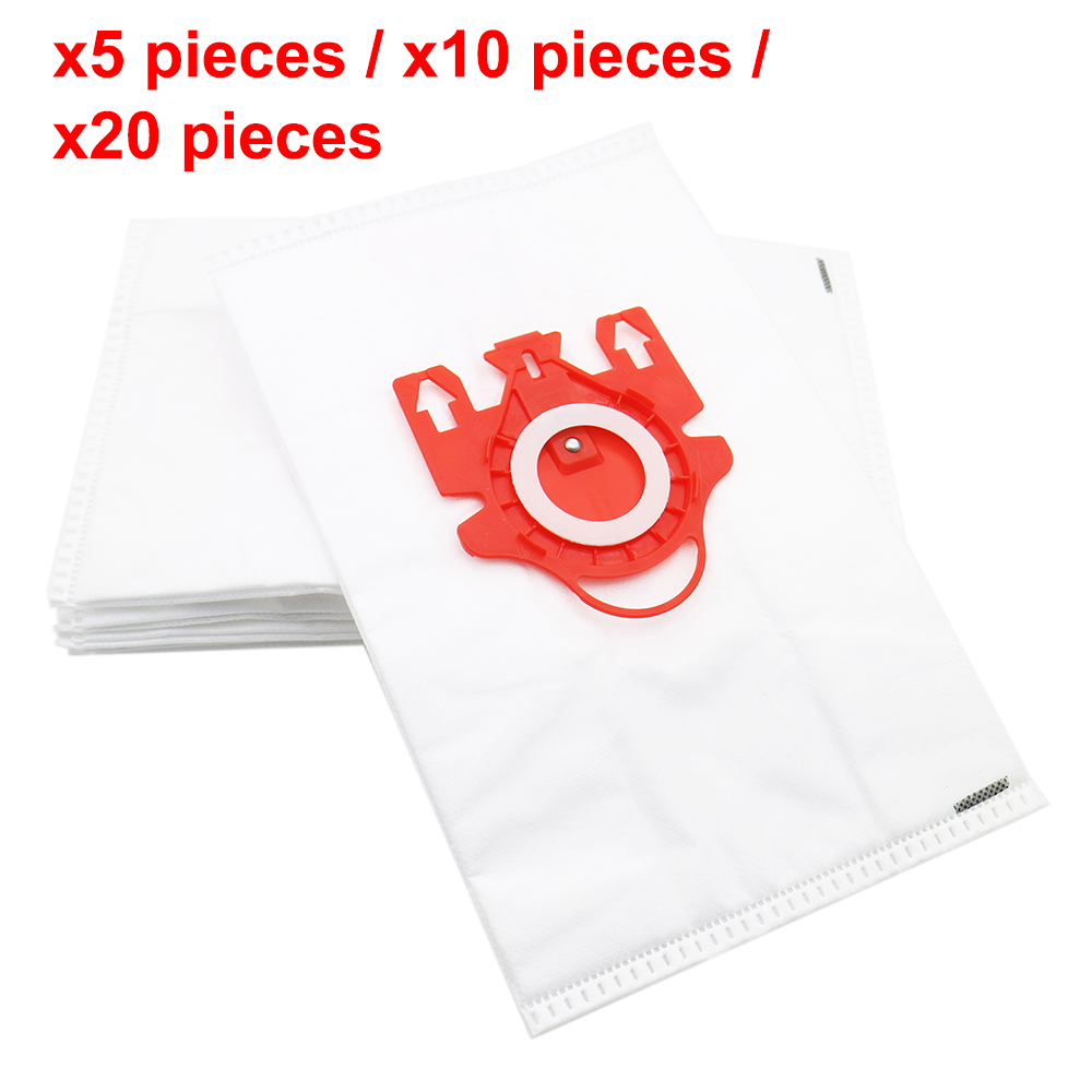 5 / 10 / 20 Pieces Dust Bags For Vacuum Cleaner Accessories Double-layer High Efficiency Non-woven For Miele FJM Series 100% New