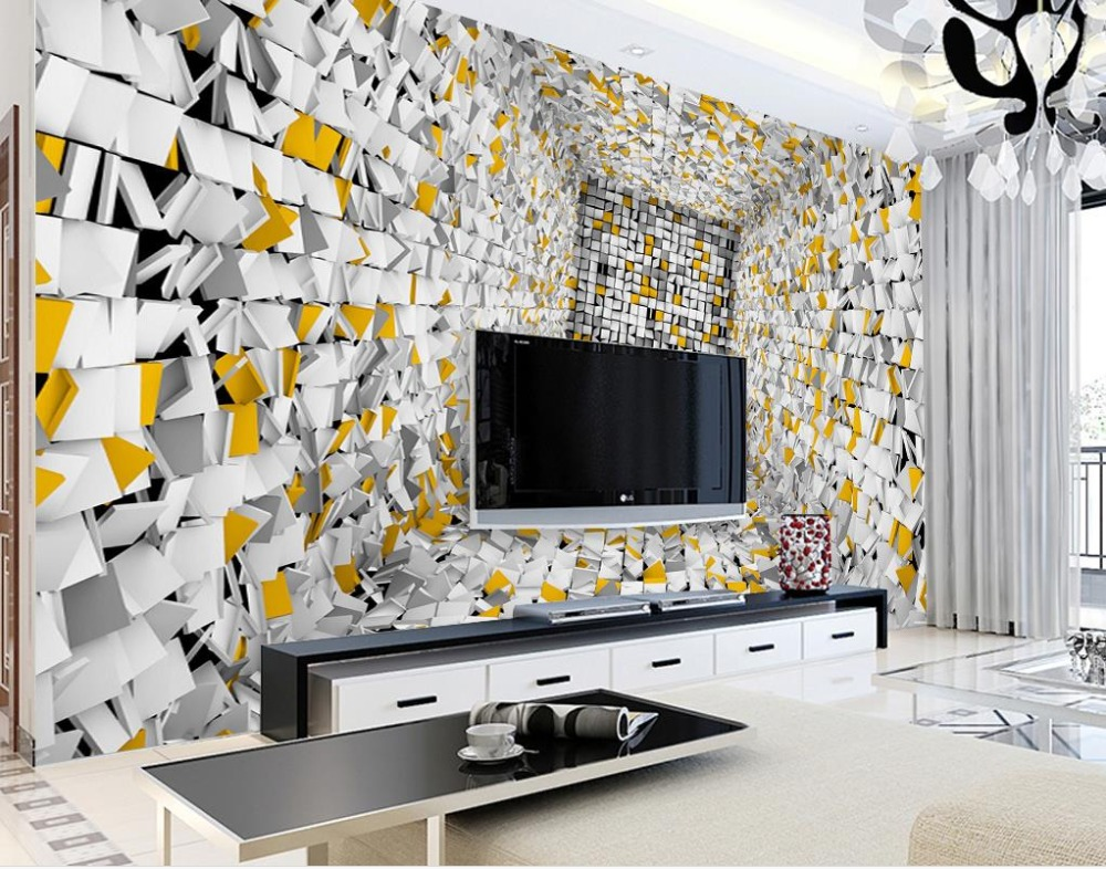 Custom 3d wall murals background Abstract box cut paper Background Wall wallpaper for living room bedroom nonwoven wallpaper mario fantasy sky background 3d wallpaper murals living room bedroom study paper 3d wallpaper