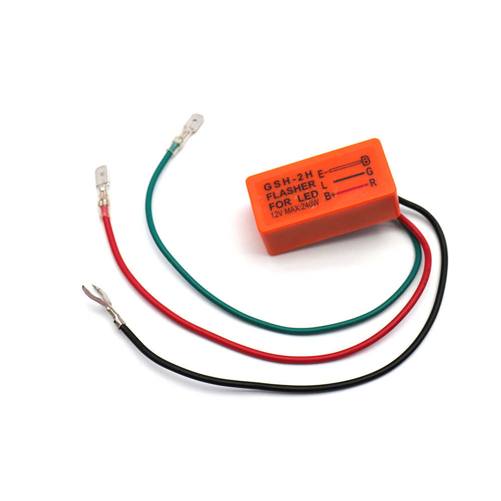 small resolution of  motorcycle led turn signal flasher relay 12 v 240 w dop 3x 3 pin flasher