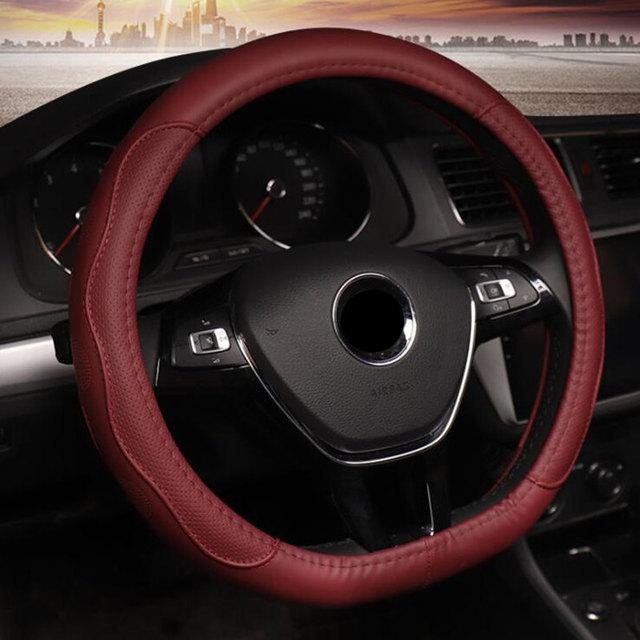 자동차 스티어링 휠 커버 d 모양 현대 ioniq 스즈키 스위프트 2018 2019 폭스 바겐 골프 7 2015 폴로 jatta 자동차 자동차 액세서리
