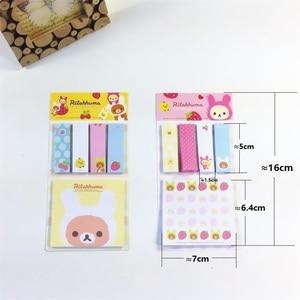 Image 3 - Rilakkuma Bloc de notas de dibujos animados, 20 unidades por lote, Bloc de notas adhesivas, papel extraíble, venta al por mayor