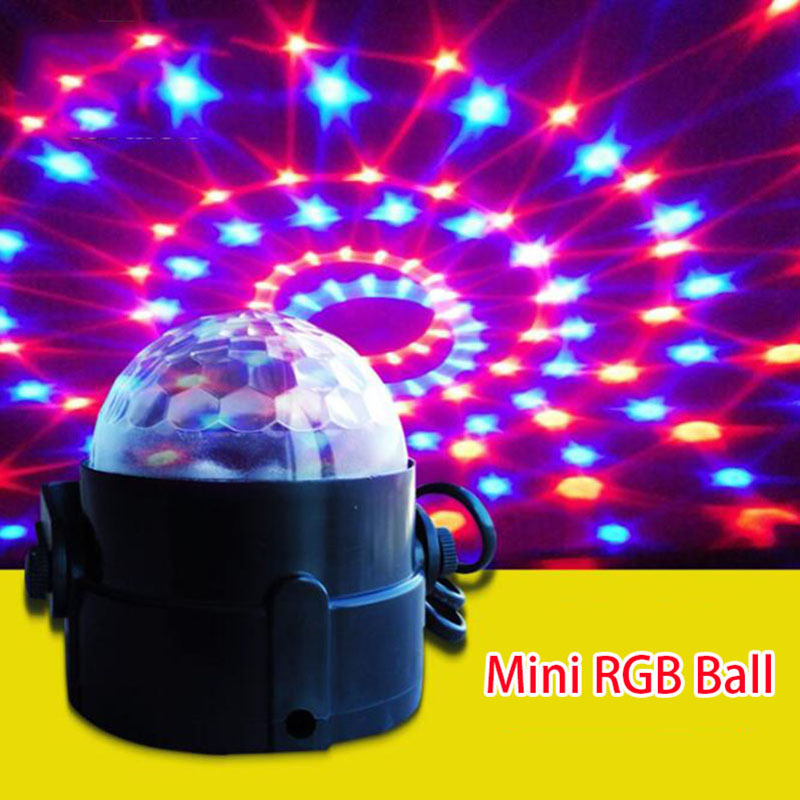 Colorful LED Bulbs magic ball Mini DJ Stage Light RGB Auto Rotating Lamp Adjustable indoor home Party Disco Music Bar KTV lights disco rgb led stage light auto rotating ball lamp effect magic party club lights for christmas home ktv xmas wedding show pub