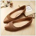 Весна/лето удобные плоские туфли Балетки обувь большого размера обуви квартир Женщин 333-G1 ЕВРО РАЗМЕР 33-43