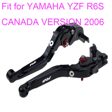 KODASKIN Left and Right  Folding Extendable Brake Clutch Levers for YAMAHA YZF R6S CANADA VERSION 2006