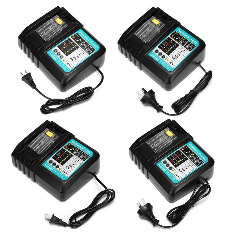 7.2-18V Rapid Power US/AU 3A/6A Circuit Overheating Short Protection Lithium-ion Battery Charger for Makita DC18RC DC18RA BL1830 dawupine dc18rct li ion battery charger 3a 6a charging current for makita 14 4v 18v bl1830 bl1430 dc18rc dc18ra power tool
