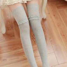 Зимние гетры выше колена для женщин и девочек; мягкие хлопковые кружевные носки; гетры; 2018MAR22 fed30