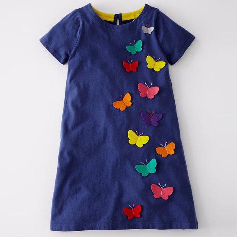 Bär Führer Mädchen Kleider Kinder Brief Oansatz Stil Mode Mädchen Kleid Mit Schmetterling Dekoration Kinder Kleidung Kleid