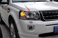 ABS Chrome Headlight Front Lamp Cover Trim 2pcs For Land Rover Freelander 2 2011 2015 Car