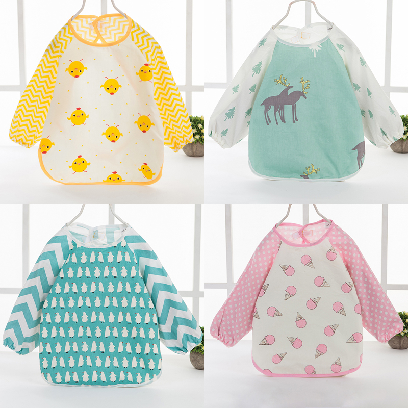 Pure Burp Feeding Cute Infants Boy Girl Aprons Cloths Bib Waterproof Baby