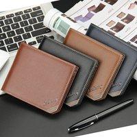 2017 New Men Wallets Leather Men Wallet Business Men Wallet Creative Fashion Wallet Short Men Wallet